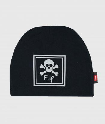 Baggy Hat Black Reflex Skull