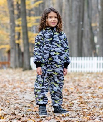 Waterproof Softshell Overall Comfy Grey Camouflage Jumpsuit