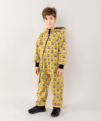 Waterproof Softshell Overall Comfy Raccoon Jumpsuit