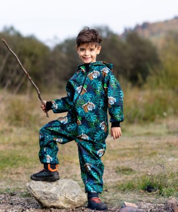 Waterproof Softshell Overall Comfy Tigers Jumpsuit