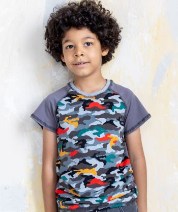 T-shirt Grey Camouflage