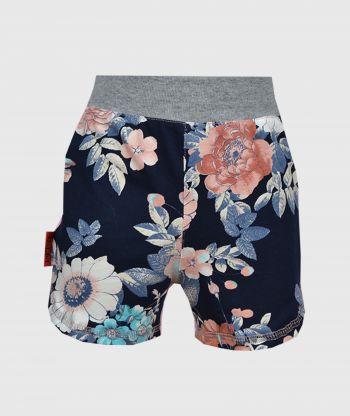 Short Pants Flowers Blue