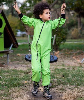 Waterproof Softshell Overall Bitter Lime Jumpsuit