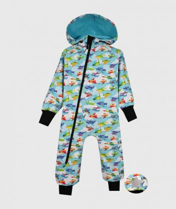 Waterproof Sofshell Overall Comfy Airplanes Jumpsuit