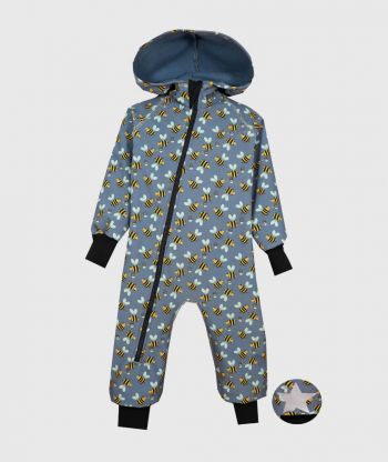 Waterproof Softshell Overall Comfy Bees Jumpsuit