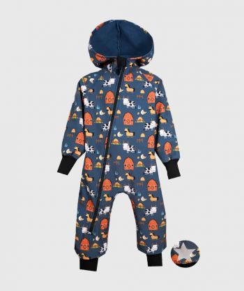 Waterproof Softshell Overall Comfy Farm Jumpsuit