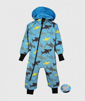 Waterproof Softshell Overall Comfy Sharks Jumpsuit