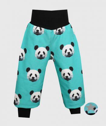 Waterproof Softshell Pants Pixel Panda Mint