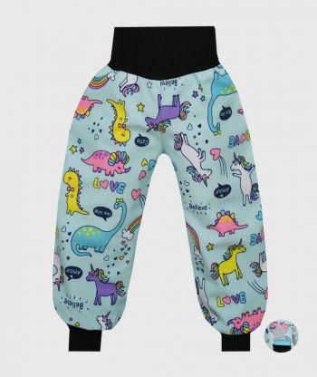 Waterproof Softshell Pants Unicorns Fantasy
